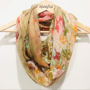 Accessories - Floral Infinity Scarf / Face Cover